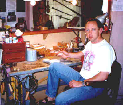 Ian at his workbench